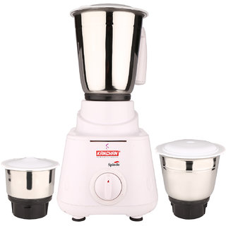 Kanchan Spindo White Mixer Grinder 3 Jars 500W