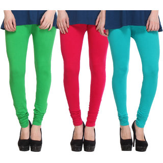 Hothy Fit For Everyday Leggings-(Light Green,Magenta,Green)