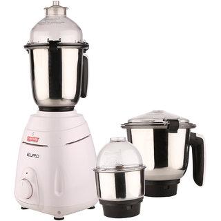 Kanchan Euro White Mixer Grinder 3 Jars 750W