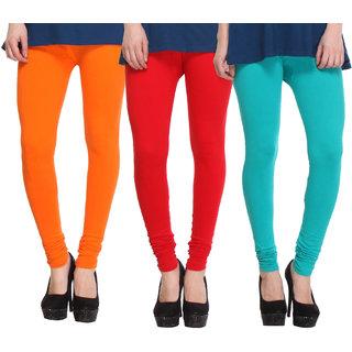 Hothy Fit For Everyday Leggings-(Light Green,Red,Light Orange)