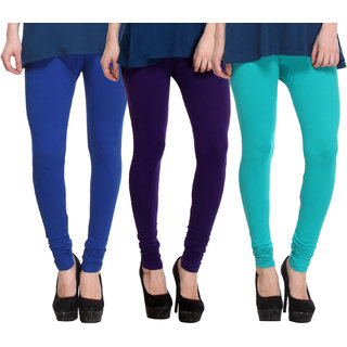 Hothy Fit For Everyday Leggings-(Light Green,Purple,Blue)