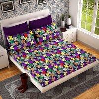 Home Castle 3D Printed Super Soft Double Bedsheet + 2 Pillow Covers(PC-DBL-3D44)