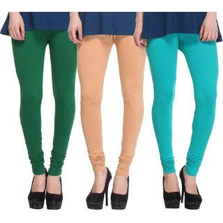 Hothy Fit For Everyday Leggings-(Light Green,Beige,Dark Green)