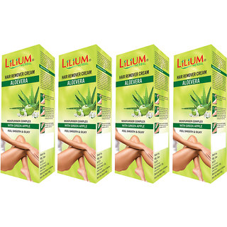 Lilium Aloe Vera Hair Removal Cream 50g Pack of 4