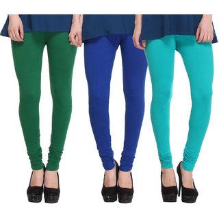 Hothy Fit For Everyday Leggings-(Light Green,Blue,Dark Green)