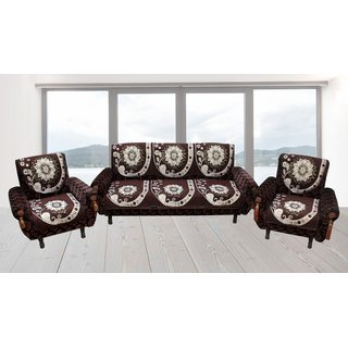 Furnishing Zone Elegent  Velvet  5  Seater Sofa  Cover  FZSCS019