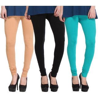 Hothy Fit For Everyday Leggings-(Light Green,Black,Beige)