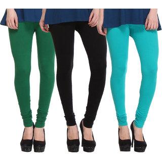 Hothy Fit For Everyday Leggings-(Light Green,Black,Dark Green)