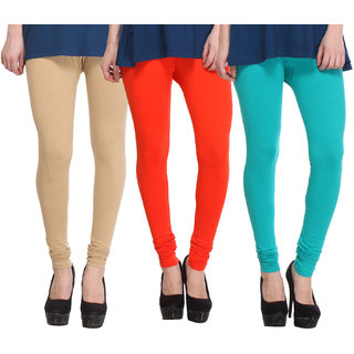 Hothy Fit For Everyday Leggings-(Light Green,Orange,Tan)