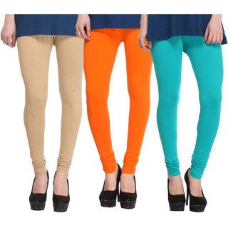 Hothy Fit For Everyday Leggings-(Light Green,Light Orange,Tan)