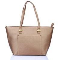Caprese Gold Plain Handbag