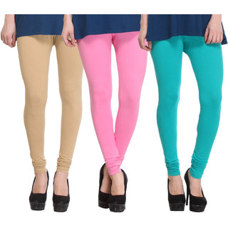 Hothy Fit For Everyday Leggings-(Light Green,Pink,Tan)
