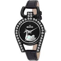 Marco Black Dial Black Strap Women'S Analog Watch - 125482311