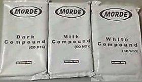 Morde Brand 1Milk +1 White+1dark Chocolate Bar 400 GM Each Slab Compound 100 Veg