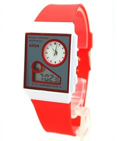New Look Latest Designer Fancy Zilin Branded Multi-Function Dual Time Red Analog-Digital LED Gorgeous Elegant Low Price