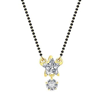Aabhu Designer Solitaire Mangalsutra Pendant with Chain Jewellery for Women