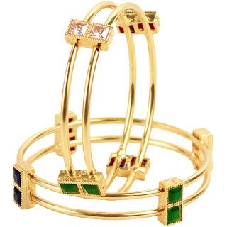 Penny Jewels Pleasant Exclusive Latest Golden Bangles Set For Women  Girls (Pack of 2)