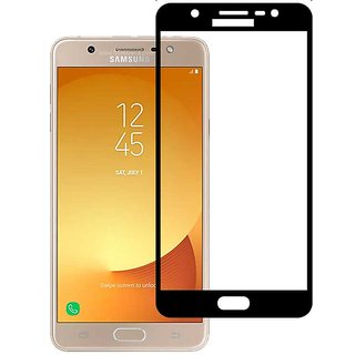 Stuffcool Mighty 2.5D Full Screen Tempered Glass Screen Protector for Samsung Galaxy J7 Max - Black