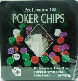 TEXAS HOLD'EM CASINO POKER SET (100 PROFESSIONAL Poker Chips)