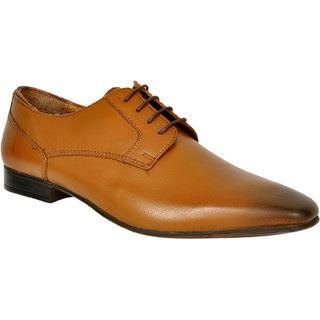 Allen Cooper ACFS-13456 Tan Leather Formal Shoes for Men
