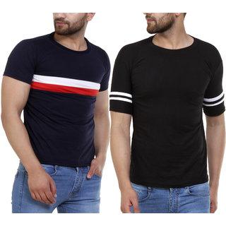 Klick2Style Men Half Sleeves Tshirts Pack of 2