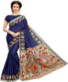 Indian Beauty Women's Blue Art Silk Bollywood Deigner Saree