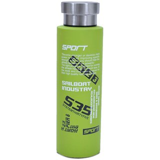 Home Story Double Wall Vacuum Flask  Insulated Thermos Travel Water Bottle - Stainless Steel - (Green)