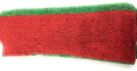 MSD Quality Cotton Floor Satranji Mat Dari / Dhurrie Galicha Jaipur Rug Solapur Carpet Size 6 x 8.5 (Cotton) Red and Gre