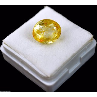 Jaipur Gemstone 9.00 ratti yellow sapphire(pukhraj)