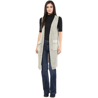 Remanika Off White color Knitted Shrug for womens