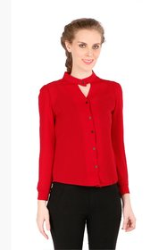 Remanika Red color Wooven Shirt for womens