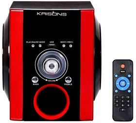 Krisons Multimedia Speaker With BT/FM/USB And Aux Red