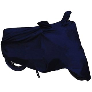 HMS Bike body cover with mirror pocket for Hero Glamour Fi - Colour Blue
