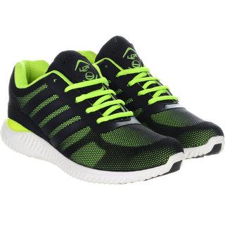 Lancer Men's Black & Green Running Shoes