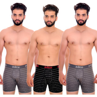 Zotic Men's Trunk'H' Underwear(ST01)- Pack Of 3