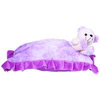 Hero Purple Pillow With Teddy Bear - 40 Cm
