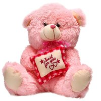 Fancy Pink Teddy Bear Pillow Soft Toy - 45 Cm