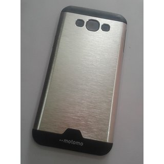 BRETAIL Fancy Motomo Metal Back Case Cover For SAMSUNG A8/A 8 (Silver)