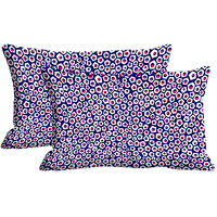 Polygon Pattern Set Of 2 Pc Digitally Printed Pillow Cover(12x18)