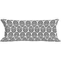 MeSleep Grey Abstract Digitally Printed NeckRoll With Filler (9x20)
