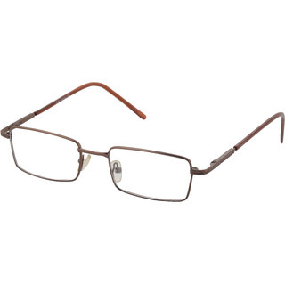 affable Rimmed Rectangle Unisex Spectacle Frame  A138 Copper  50 mm