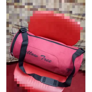 4049d79d9928 yellow tree Sport Bag Duffel Bag Red Black Duffel Gym Bag Travel Bag With 2  Compartment
