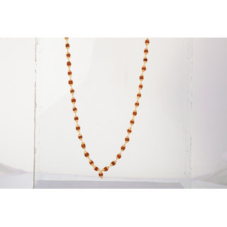 KESAR ZEMS Shree Non Plated Brown  Golden Alloy  Wood Chain For Men and Women