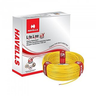 Rewa Havells Lifeline Cable 4 Sq Mm Wire (Yellow)