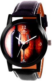 Wine Glass Luxury Style Analog Men's Watch By Taj Avenu