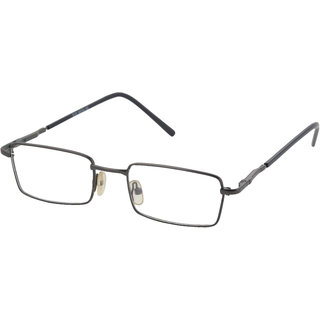 affable Rimmed Rectangle Unisex Spectacle Frame  A138 Grey  50 mm