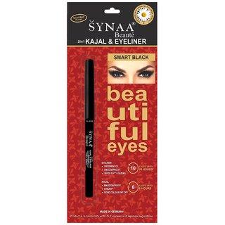 Synaa 2in1 Kajal Eyeliner - Smart Black (0.35g)