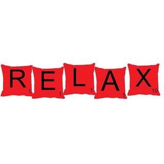 meSleep Alphabet RELAX 5 pc Set Cushion Cover(16 x 16)