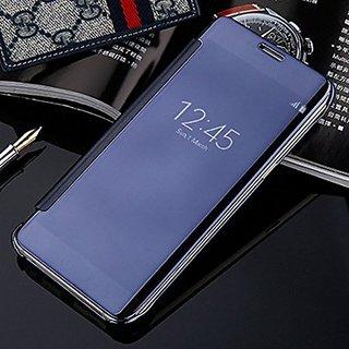 innovative design 09dda 85df8 Samsung Galaxy J7 Max Luxury Clear View Mirror Smart View Case Flip Cover  For Samsung Galaxy J7 Max - (Blue)