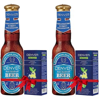 Anti Dandruff Beer Shampoo (Pack Of 2 200 ml Each)